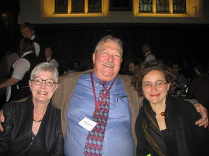 De Witt Sumners with his wife, Neddy, and former student Mariel Vazquez in Cambridge, England in September 2012.