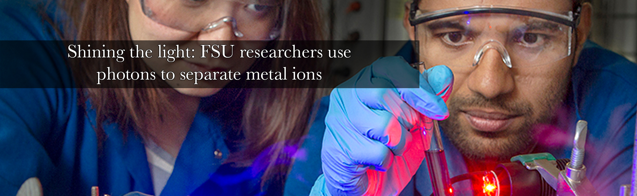 Shining the light: FSU researchers use photons to separate metal ions