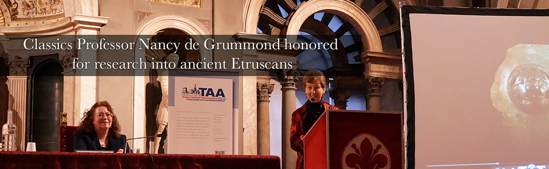 Classics Professor Nancy de Grummond honored for research into ancient Etruscans