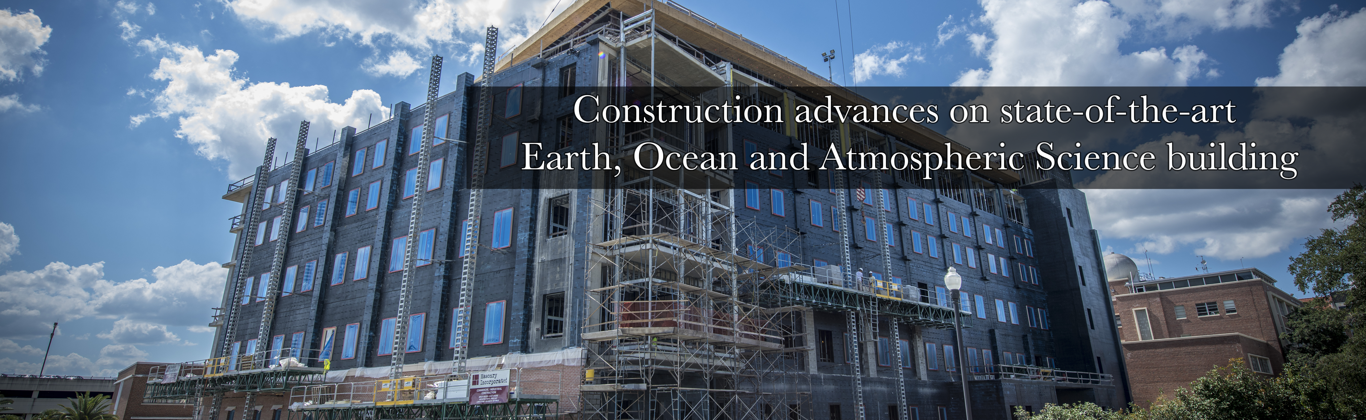 Construction advances on state-of-the-art Earth, Ocean and Atmospheric Science building