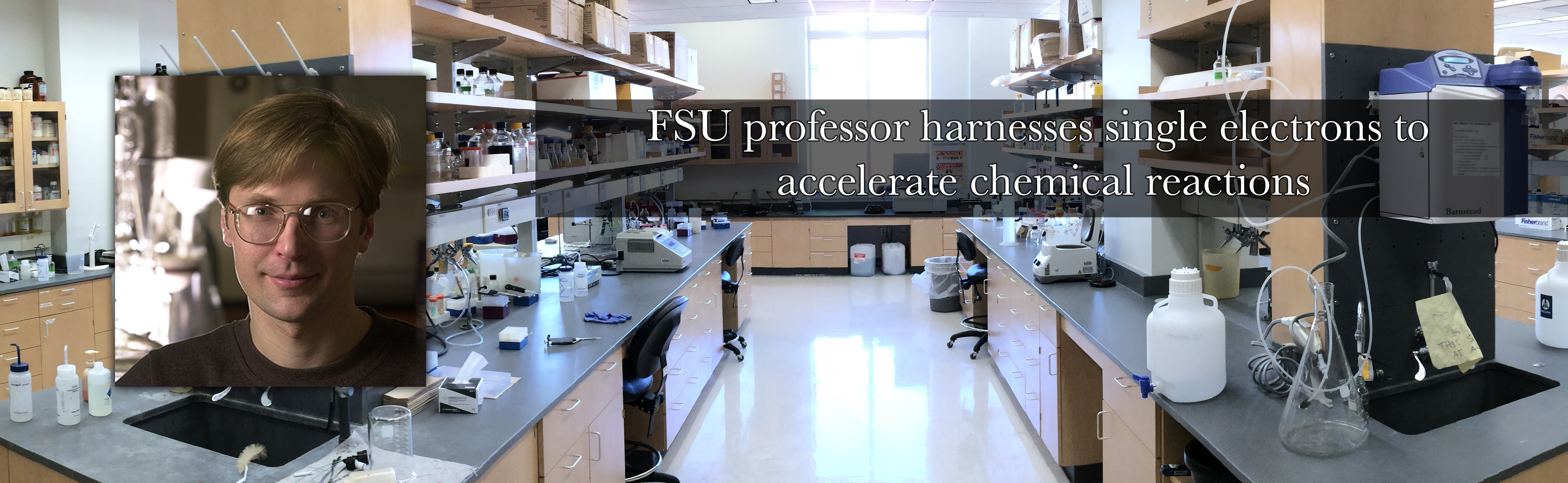 FSU professor harnesses single electrons to accelerate chemical reactions
